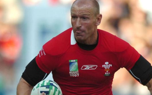 Gareth Thomas became Wales's first Centurion against Fiji at Rugby World Cup 2007