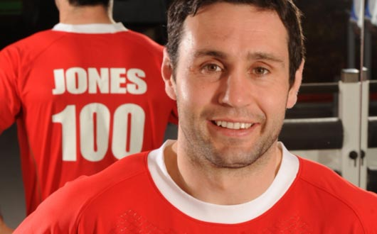 Stephen Jones became the second Welsh Centurion against the Barbarians in 2011