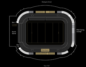 WRU Hospitality Stadium Map