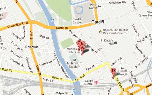 Millennium Stadium on Google Maps