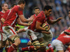 Toby Faletau goes on the rampage against England during Wales's stunning 12-19 victory.