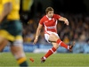 The trusty right boot of Leigh Halfpenny bangs over another three points for Wales.