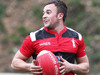 Aberavon's Howard Thomas looks for support against Cross Keys during his side's 25-6 victory.