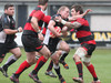 Cross Keys' Owen Jones tries to find a way through the Aberavon defence.
