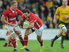 George North goes on the rampage before limping out of the contest in the 31st minute.