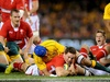George North gets Wales off to a flying start with an early try against Australia at Etihad Stadium.