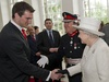 The Queen is introduced to Wales captain Sam Warburton.
