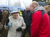 The rain can't dampen the Queen's enthusiasm as she chats to Neil Jenkins during her Diamond Jublilee Celebrations held in Wales.