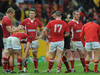 Welsh players can't hide their disappointment after suffering a narrow loss to Australia.