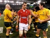 A shell shocked Wales skipper Sam Warburton has disappointment written all over his face.