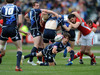 Scotland's Colin Gregor gets the ball away as Sion Bennett and Rhys Shellard attempt to disrupt.