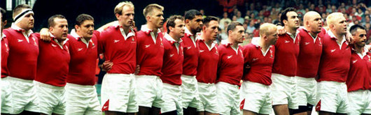 First XV: Wales lined up to sing the National Anthem for the very first time at Millennium Stadium, what followed ensured opening night went with a bang