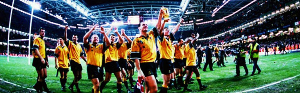 Australia won the right to be World Champions in 1999, now that they've won the right to host the tournament they intend to ensure that four years on rugby will follow the Web Ellis Cup to the homeland