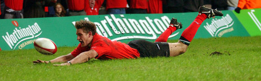 Jamie Robinson pounced on a loose ball to send Wales into the lead and Welsh fans into delerium early in the match