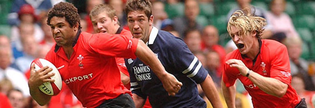 Colin Charvis in action against Scotland in the recent WRU Summer Series