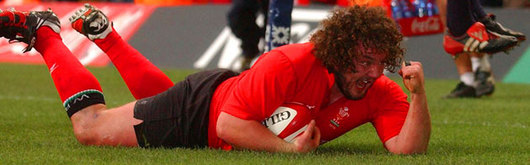 Adam Jones enjoys scoring the Wales opener and his first try in the red jersey