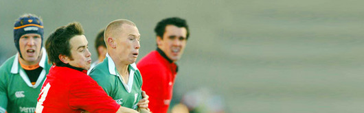 Peter Stringer and Paul O'Connell (pictured against Rhys Williams and Jonathan Thomas at Lansdowne Road) are in O'Sullivan's unchanged line up