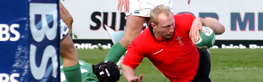 Tom Shanklin bags a brace against Ireland early in the tournament