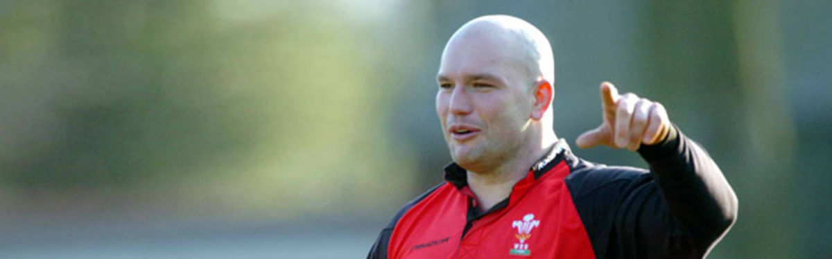 Ben Evans gets into the thick of Wales training