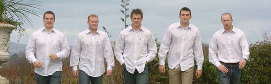 Members of the Wales Squad model the Rockport range
