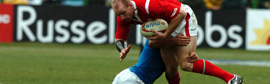 Gareth Thomas in action against Italy was also instrumental for Toulouse this weekend
