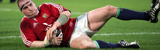 After the relief of thinking his tour was over with a broken thumb, Gethin Jenkins splashes down a try