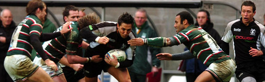 Gavin Henson in Heineken Cup action for the Ospreys during the 2005–2006 season