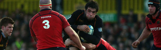 Peter Sidoli, pictured in Heineken Cup action for the Dragons, has signed for Italian outfit Calvisano