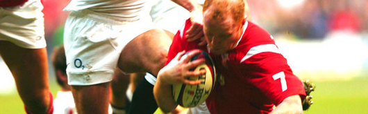 Wales's solo try from Martyn Williams was not enough to stem the flow of the England tide