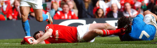 Stephen Jones crashed over Wales's second which should have settled the nerves of a tense Welsh crowd