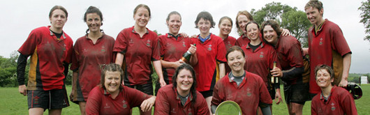 WWRU Manager Jilly Holroyd, back row third from left, enjoys the balance of work in the office and work on the field