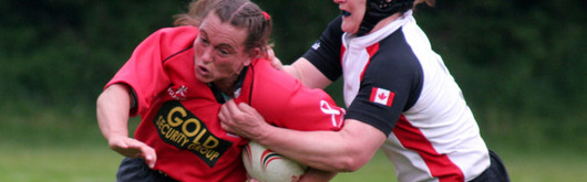 Louise Rickard in action against Canada last season