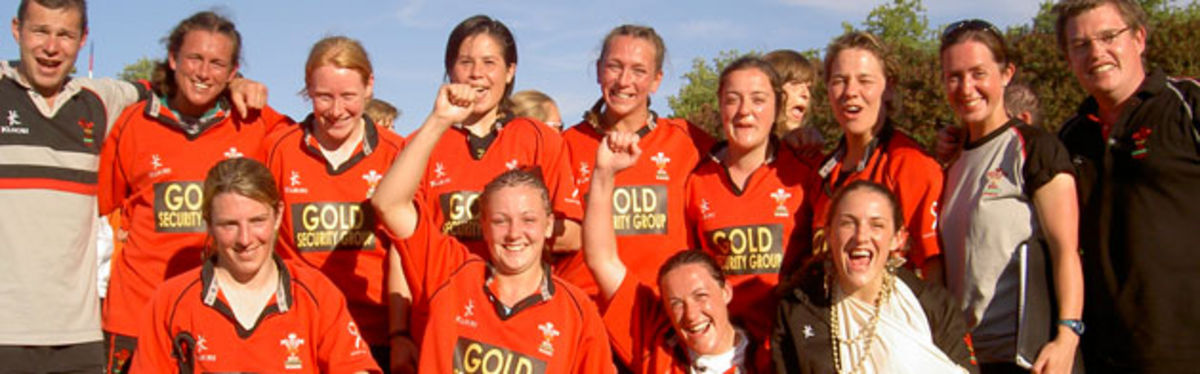 Wales Women's victorious Sevens squad at last year's FIRA European Sevens tournament