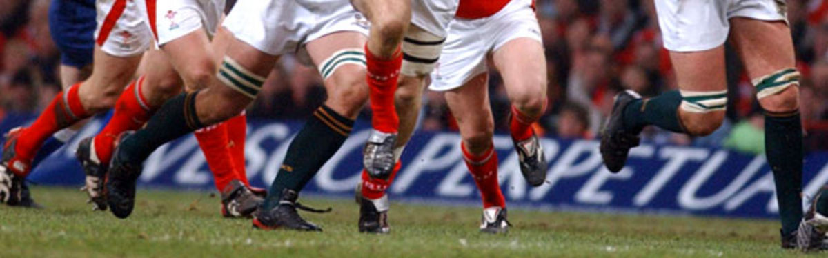 Invesco Perpetual literally backing Welsh Rugby in the 2005 Invesco Perpetual Series