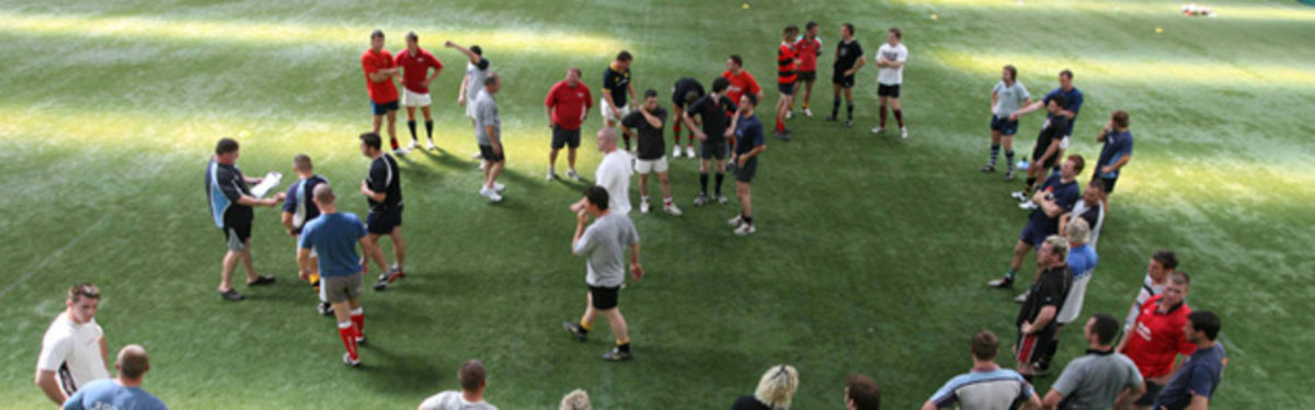 Wales Clubs XV in their July 2006 inaugural training session