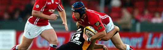 Simon Easterby in Magners League action against the Dragons in December