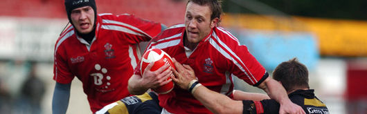 Morgan Stoddart in action for Llanelli against Newport in the Principality Premiership back in November of this season