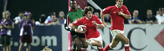 Wales Sevens against the Arabian Gulf in Decber 2006; the team gained an impressive win over Chinese Taipei in the Hong Kong Sevens