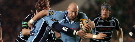 Tom Shanklin and Jamie Robinson in Magners League action against the Ospreys; Robinson starts at centre against Ulster on Friday whilst Shanklin drops to the bench