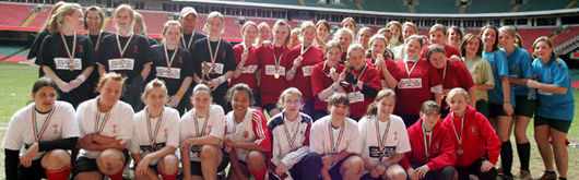 Last year's competition participants of the WWRU Tag Tournament at the Millennium Stadium