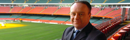 Steve Phillips at the Millennium Stadium, the WRU's new Group Finance Director