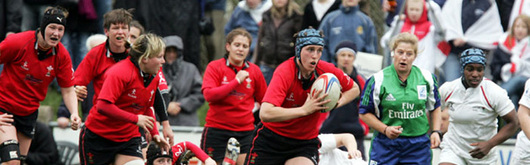 Louise Horgan leads a charge for Wales Women