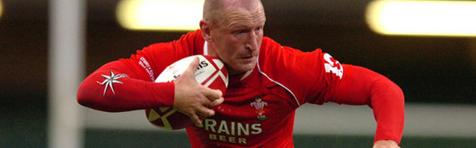 Captain Gareth Thomas opened Wales's account and stretched the all-time Welsh try-scoring record that he holds to 39