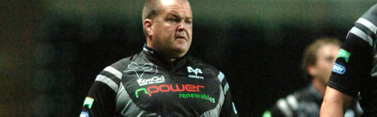 Ospreys prop Andrew Millward has been appointed forwards coach at Bridgend for next season