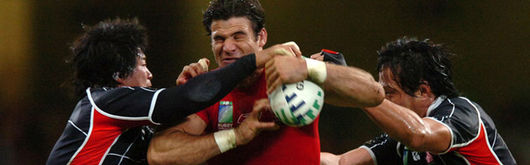 Mike Phillips's physical nature at scrum half assisted the distribution of play against Japan