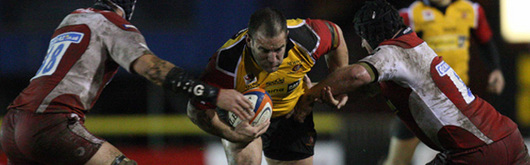Dragons prop Adam Black will make his 100th appearance for the Dragons in the Magners League on Friday