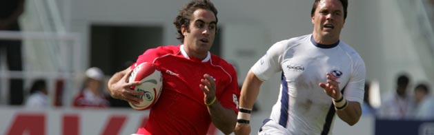 James Merriman gained a try for Wales in the Pool B victory over Japan at the Adelaide Sevens