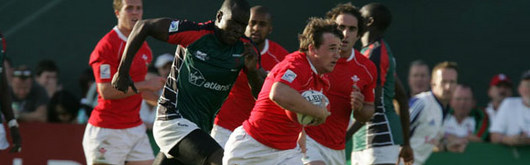 Martin Roberts in action for Wales Sevens in Dubai in November