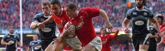 Wales in action in Cardiff