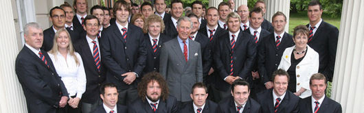 Prince Charles met the Wales squad before their departure to South Africa